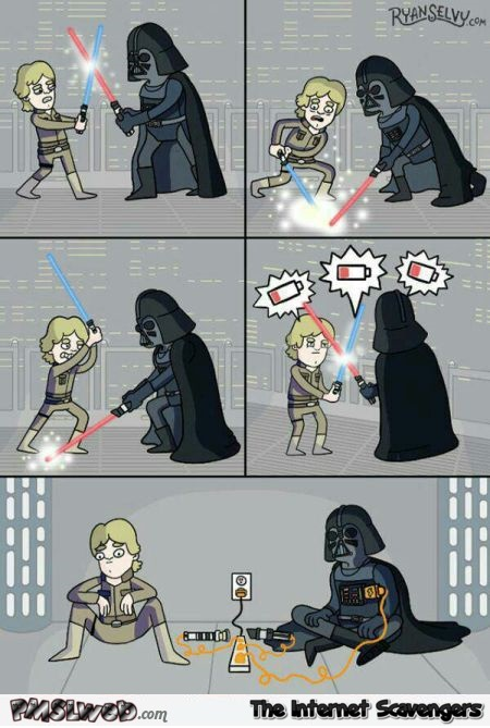 Funny light saber cartoon @PMSLweb.com
