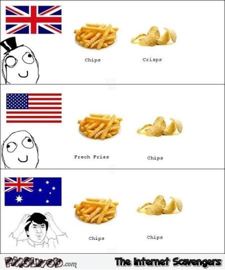Funny Aussie chips fact @PMSLweb.com
