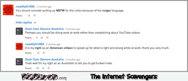 My right as an Australian funny comment @PMSLweb.com
