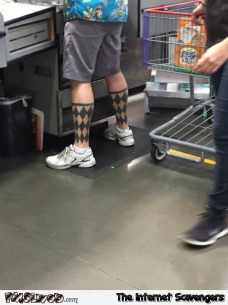 WTF tattoo socks @PMSLweb.com