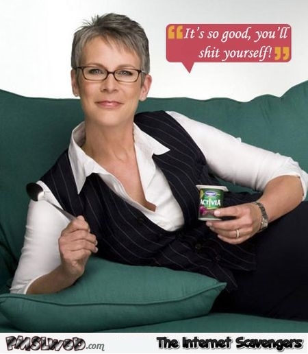 Funny Activia advert caption @PMSLweb.com