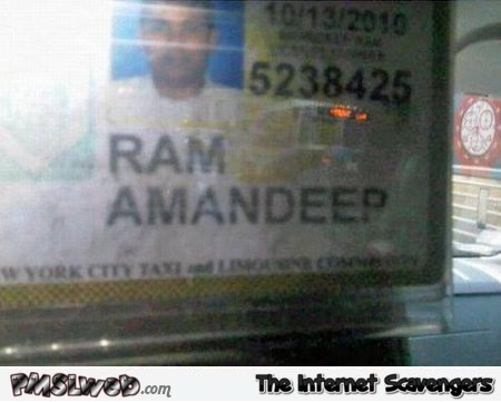 Funny awkward Indian name – Thursday fun @PMSLweb.com