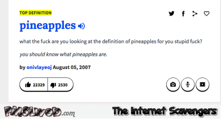 Funny pineapples definition