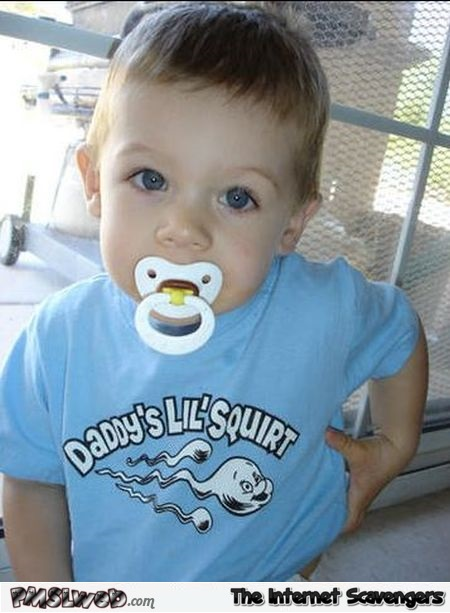 Funny daddy's little squirt t-shirt @PMSLweb.com