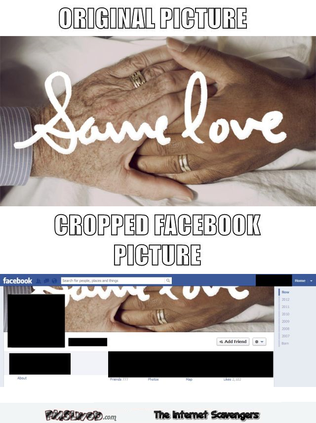 Funny Facebook cropped picture fail @PMSLweb.com