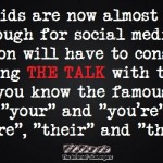 Having the famous social media talk with the kids humor @PMSLweb.com