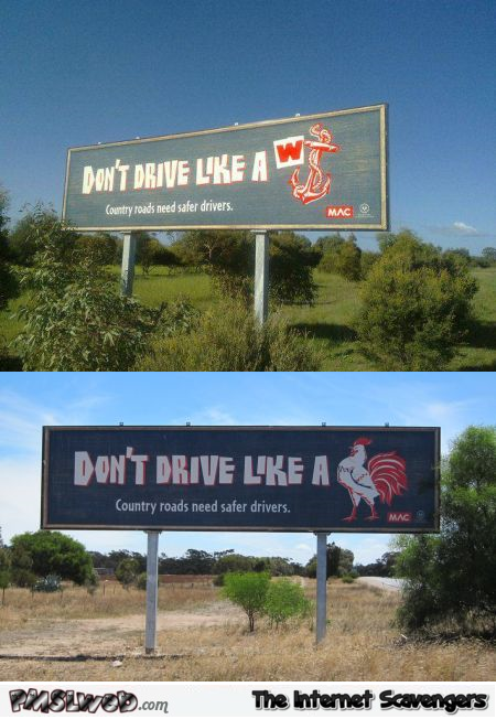 Funny Australian road prevention @PMSLweb.com