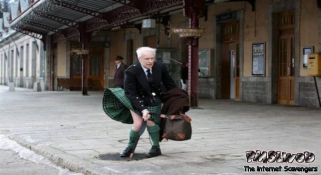 Funny Scottish man imitating Marilyn Monroe – Rollicking Wednesday @PMSLweb.com