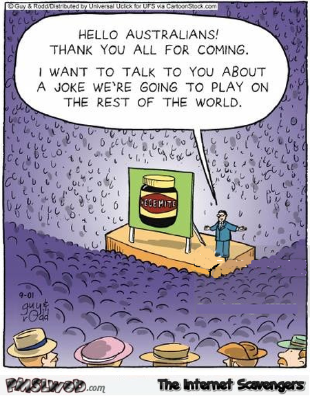 Australian vegemite funny cartoon @PMSLweb.com