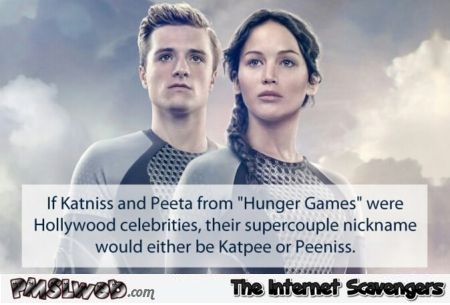 If Katniss and Peeta were Hollywood celebrities humor @PMSLweb.com