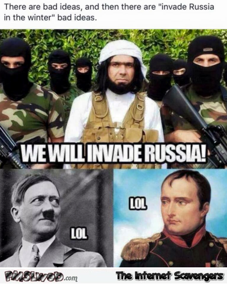 Isis wants to invade Russia humor @PMSLweb.com