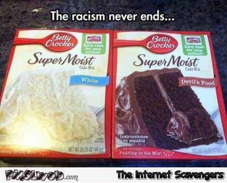 Funny white and black cake racism @PMSLweb.com