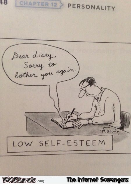 Funny low self esteem cartoon – Sunday humor @PMSLweb.com