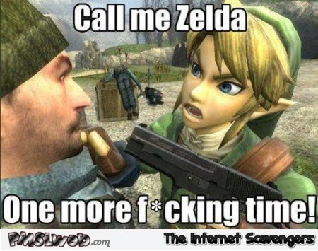 Call me Zelda one more time meme