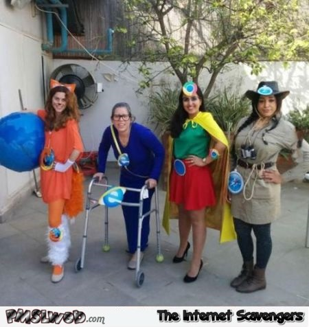 Funny browser costumes @PMSLweb.com