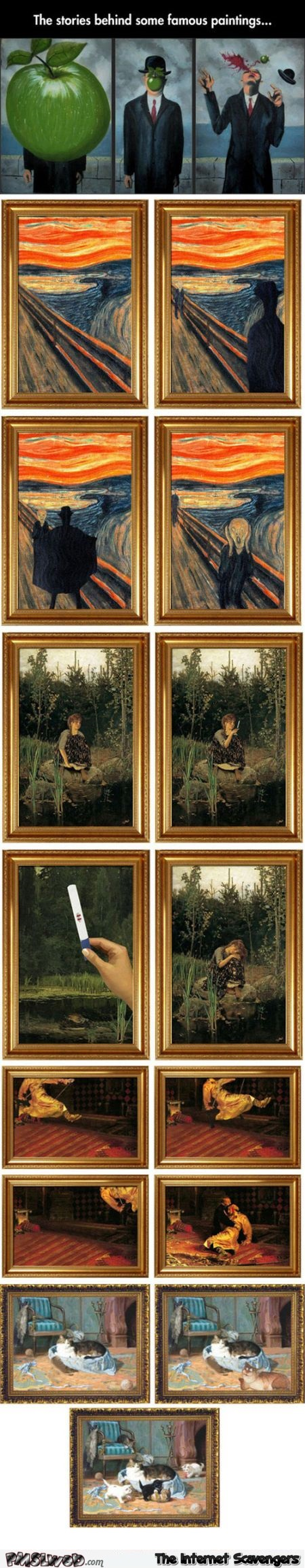 The story behind some famous paintings humor @PMSLweb.com