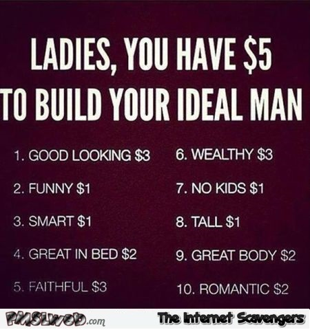 You have 5$ to build your ideal man @PMSLweb.com