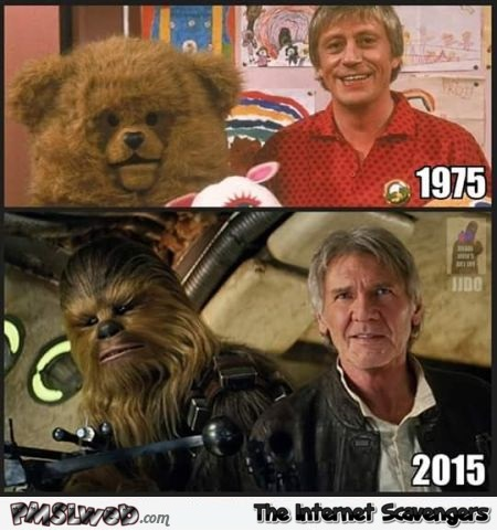 Funny Chewbacca and Solo before/after