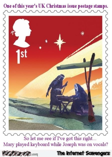 Funny UK Christmas stamp @PMSLweb.com