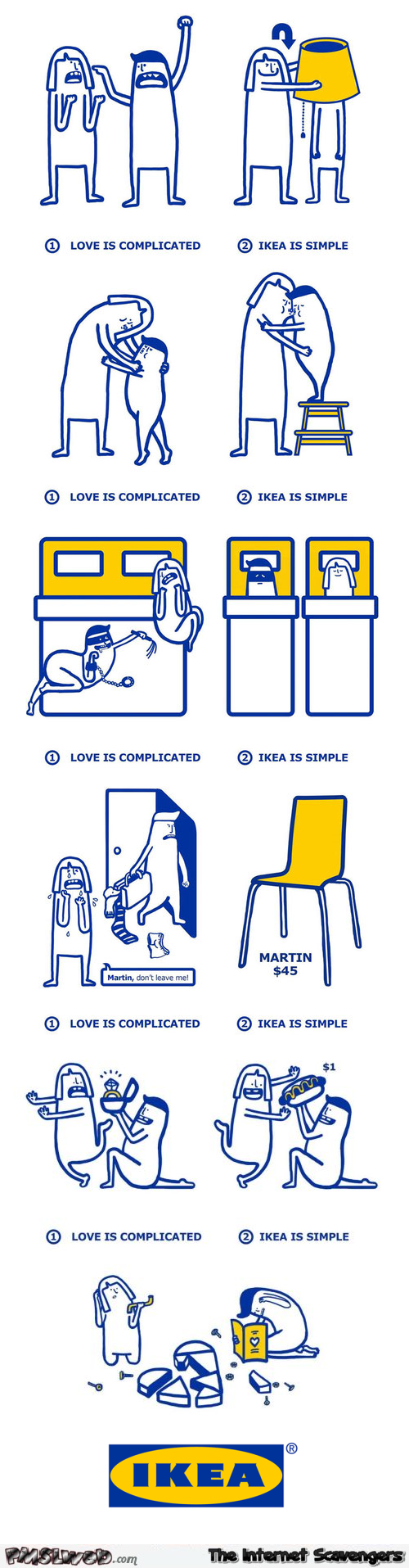Love is complicated by Ikea @PMSLweb.com