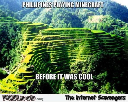 Philippines playing Minecraft before it was cool meme