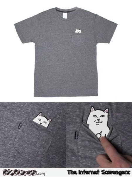 Funny FU cat t-shirt – Monday laughter @PMSLweb.com