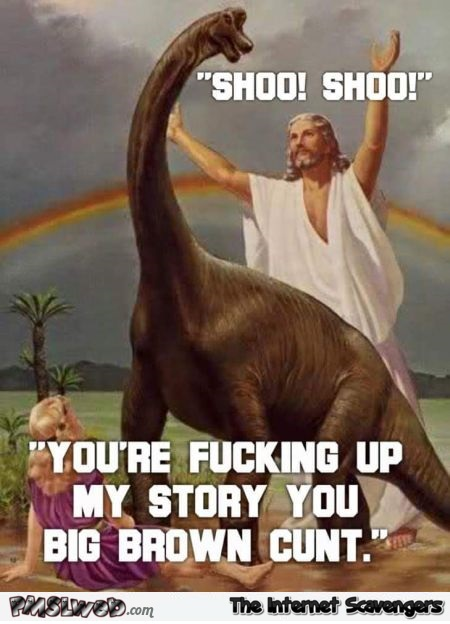Jesus and dinosaurs' humor
