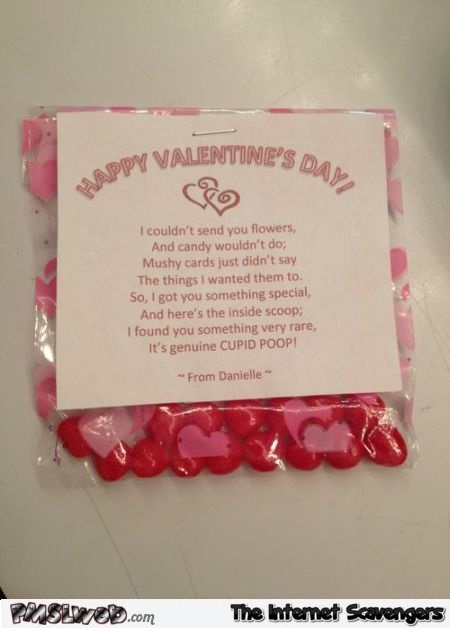 Funny Valentine's day cupid poop @PMSLweb.com