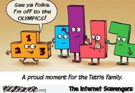 Funny Tetris family cartoon @PMSLweb.com