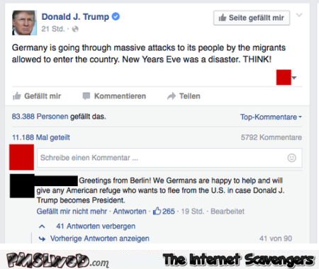 Funny German answer to Trump @PMSLweb.com