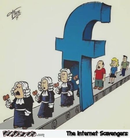 Funny Facebook makes you judge people cartoon