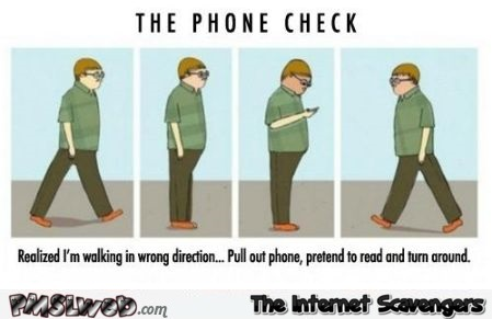 The phone check humor @PMSLweb.com