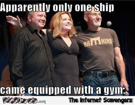 Gym on the Enterprise meme @PMSLweb.com