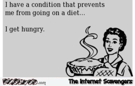 Condition called I'm hungry sarcastic ecard