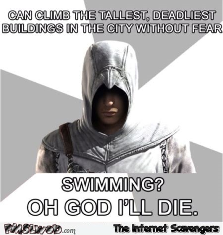 Funny Assassin's creed logic meme @PMSLweb.com