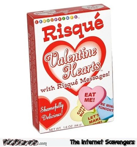 Funny Valentine hearts candy @PMSLweb.com