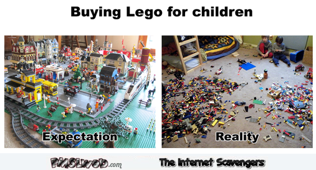 Buying lego for children humor @PMSLweb.com