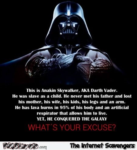 This is Anakin Skywalker what's your excuse humor @PMSLweb.com