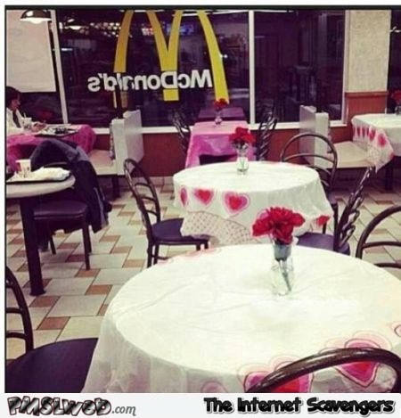 Funny romantic Mc Donalds restaurant @PMSLweb.com