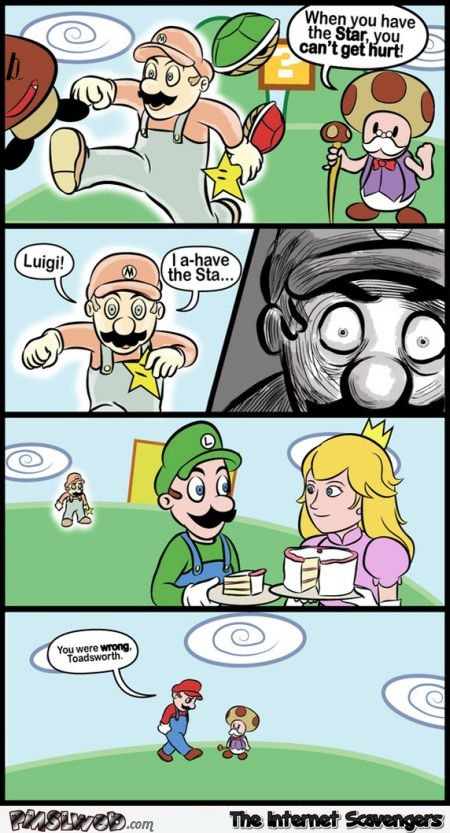 When you have the star Mario bros funny cartoon @PMSLweb.com