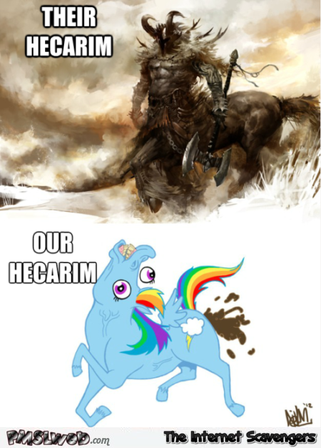 Funny league of legends hecarim meme @PMSLweb.com