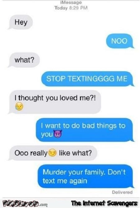 I thought you loved me funny text to ex -  Valentine day's humor @PMSLweb.com