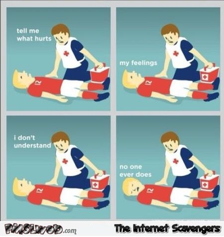 Football player injury funny cartoon @PMSLweb.com
