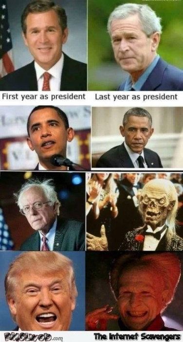 Funny American presidents before versus after