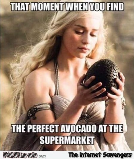 When you find the perfect avocado meme