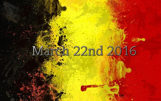 Sympathy for Belgium – March 22nd