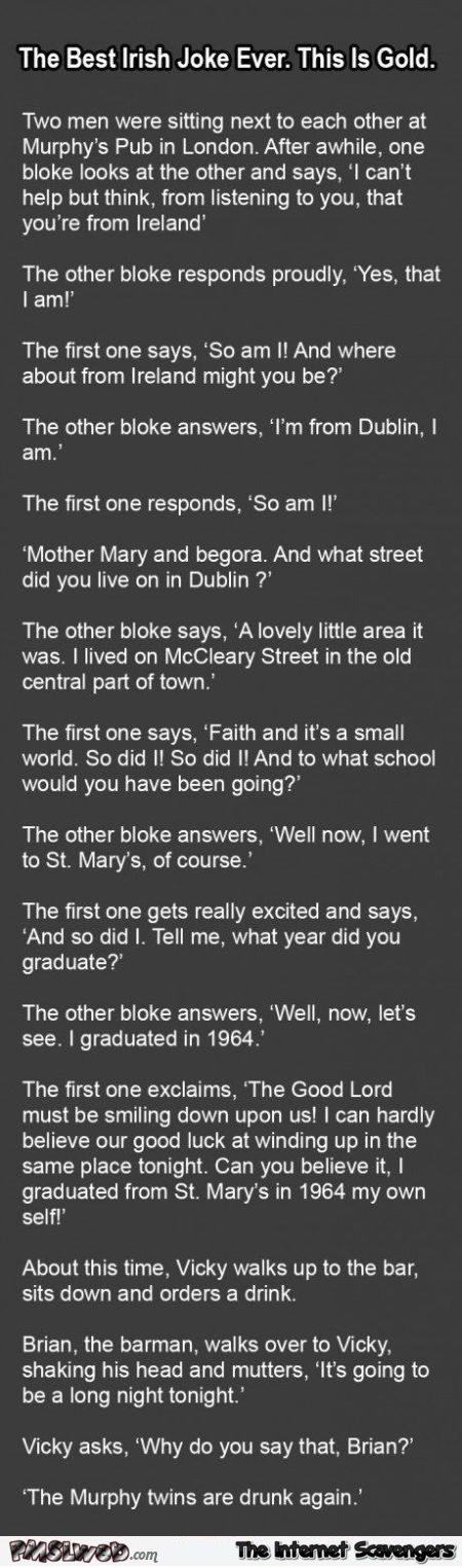 Funny Irish joke @PMSLweb.com