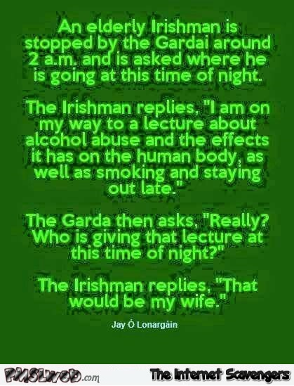 Elderly Irish man joke – Irish humor @PMSLweb.com