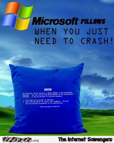 Funny Microsoft pillows – Daily funny pictures @PMSLweb.com