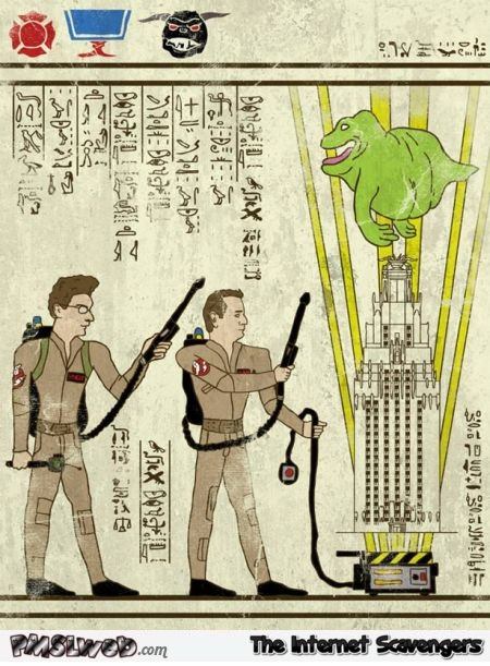 Funny ghostbusters hieroglyphics – Monday funnies @PMSLweb.com